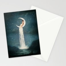 Moon River Lady Stationery Cards