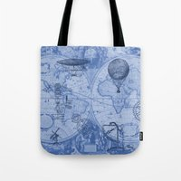 Steampunks in Blue Tote Bag
