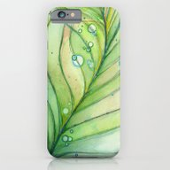Green Watercolor Feather… iPhone 6 Slim Case