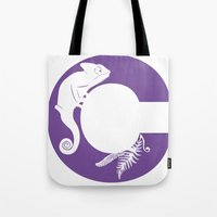 C is for Chameleon - Animal Alphabet Series Tote Bag