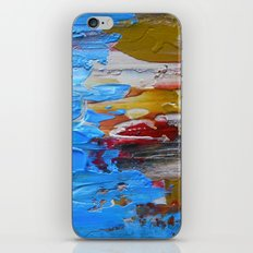 Beach Tide Acrylics On Stretched Canvas iPhone & iPod Skin