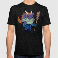 Legend Of Animal Hat: Br… Mens Fitted Tee Tri-Black SMALL