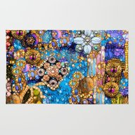 Gold, Glitter, Gems And … Rug