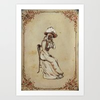 X-Mary, a see-through sphinx Art Print