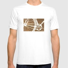 Brown Bike Mens Fitted Tee White SMALL