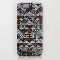 iPhone & iPod Case featuring Wood Galaxy by PatternPeople