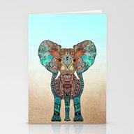 Stationery Cards featuring ElePHANT by Monika Strigel
