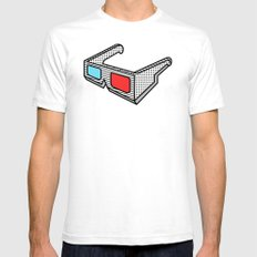 3d Glasses Mens Fitted Tee White SMALL