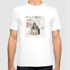 Chewwie at work White Mens Fitted Tee SMALL