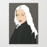 White Eyes Canvas Print