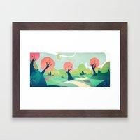 The winding road Framed Art Print