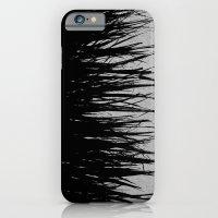Concrete Fringe Black on Side iPhone 6 Slim Case
