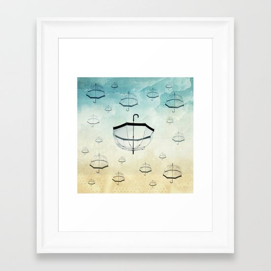 wishing for rain Framed Art Print