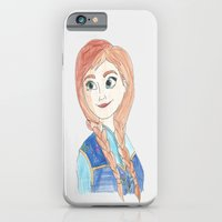 iPhone Cases featuring Anna Frozen by ArtSchool