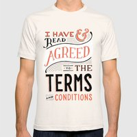 Terms and Conditions Mens Fitted Tee Natural SMALL