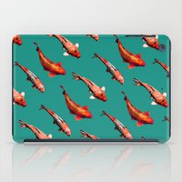 Koi In Teal iPad Case
