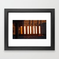 Worship the golden towers Framed Art Print