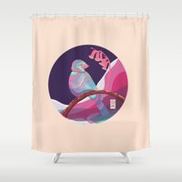 bird in colors Shower Curtain