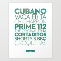 Miami — Delicious City… Art Print