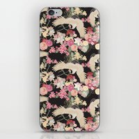 Japanese garden with cranes iPhone & iPod Skin