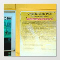 #HAZARDOUS SPORT - SKATE PARC ORLANDO, USA by Jay Hops Canvas Print