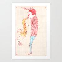 Jazz Musician Art Print