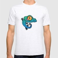 Gecko Mens Fitted Tee Ash Grey SMALL