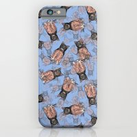 BAT CAT Pattern 2 Pink Periwinkle iPhone 6 Slim Case