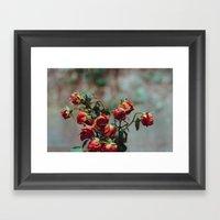 Windowsill Roses No. 1 Framed Art Print
