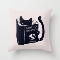 World Domination For Cat… Throw Pillow