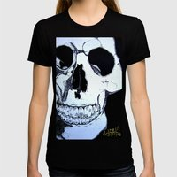 Skull Womens Fitted Tee Black SMALL