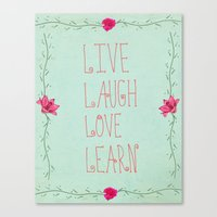 Live, Laugh, Love, Learn Canvas Print
