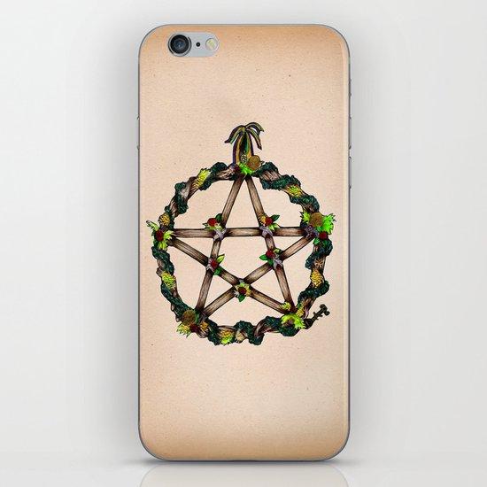 PENTAGRAM GARLAND iPhone & iPod Skin