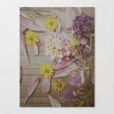 Vintage Floral Joy Canvas Print