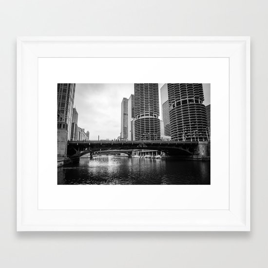 Chicago Riverwalk - State Street Framed Art Print
