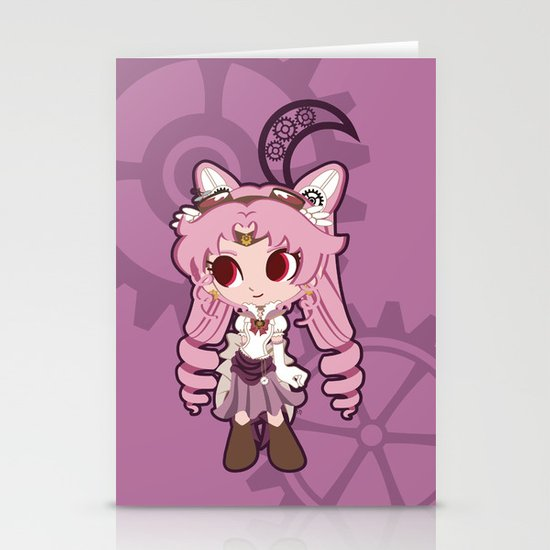 Steampunk Chibimoon - Sailor Moon Stationery Card