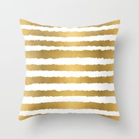 Earning Her Stripes Throw Pillow