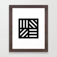 B/W striped window pattern Framed Art Print