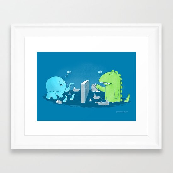You Sunk My Navy! Framed Art Print