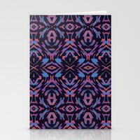 Flocked Arrow Tribe Violet Stationery Cards