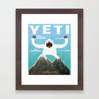 Yeti Framed Art Print