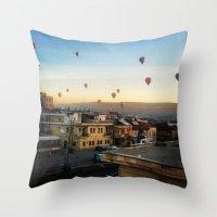 Cappadocian Hot Air Ball… Throw Pillow