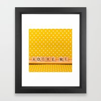 Adore Me Framed Art Print