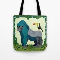 The Gorilla and The Toucan Tote Bag