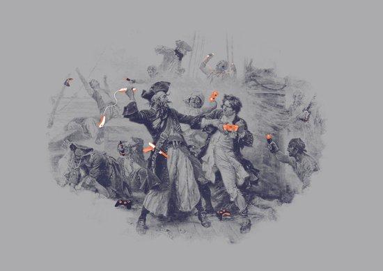Epic Battle Canvas Print