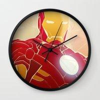 Iron Man Armor Wall Clock