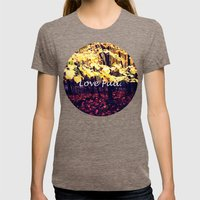 Under The Shade Of Yellow Womens Fitted Tee Tri-Coffee SMALL