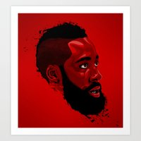 James Harden: Redbeard E… Art Print