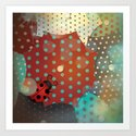 Ladybug - Lost in the dots Art Print