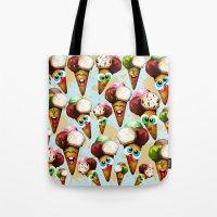 Ice Cream Cones Cartoon Pattern Tote Bag